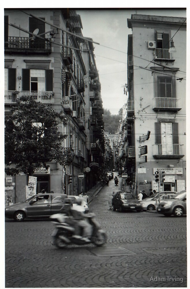 Street shot in Naples, Italy by Adam Irving