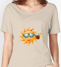 Funny sun tropical island Women's Relaxed Fit T-Shirt