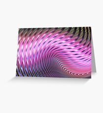 Pink lines Greeting Card