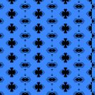 Blue and Black pattern by TeAnne