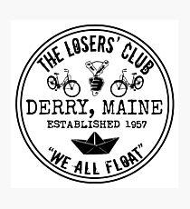 The Losers' Club Emblem - Black Text Photographic Print