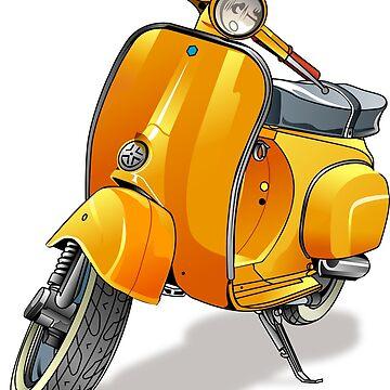 Yellow Vespa by msjeje