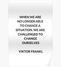 VIKTOR FRANKL Stoische Philosophie Inspirational ZITAT Poster