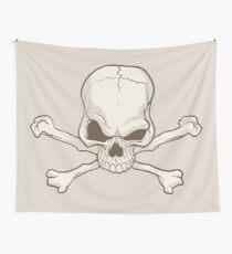 Skull and bones drawing Wall Tapestry