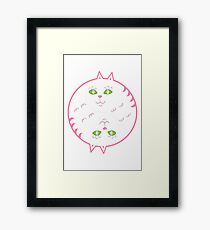 YIN YANG CAT Framed Print