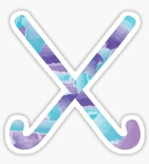 Field Hockey Watercolor Sticker