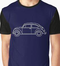 VW Beetle Blueprint Graphic T-Shirt
