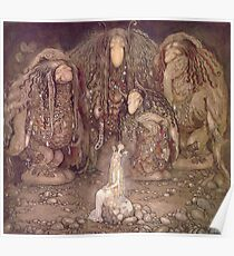 TROLL, Fairy Tales, Swedish, Sweden, John Bauer, Trolls, and a Princess,  Poster