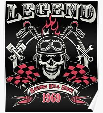 Legends Are Born In 1969 - 48th Birthday Poster