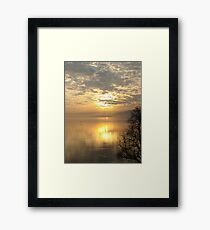 Europa, Schweiz, Arbon, Sonnenaufgang Framed Print