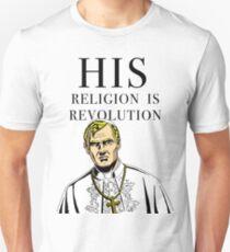 """HIS RELIGION IS REVOLUTION"" Unisex T-Shirt"