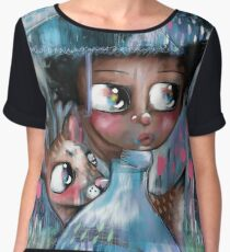 Oh! Deer, It's Raining  Women's Chiffon Top