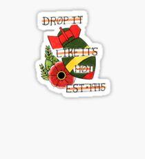 Bomb and Rose Tattoo Flash Sticker