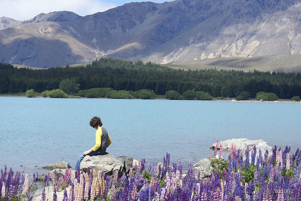Nick Contemplating Lake Tekapo by avionz