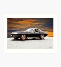 1964 Corvette Stingray 'Factory Fuelie' II Art Print