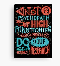 Do Your Research Canvas Print