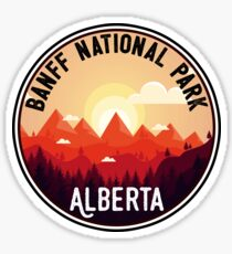 BANFF NATIONAL PARK ALBERTA CANADA Skiing Ski Mountain Mountains Snowboard Boating Hiking 8 Sticker