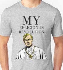 """MY RELIGION IS REVOLUTION"" Unisex T-Shirt"