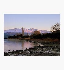 Winter Paradise... - Sunrise Wanaka - NZ Photographic Print