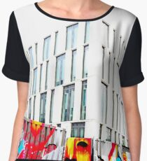 The Roadworks Fence...Potsdam Chiffon Top