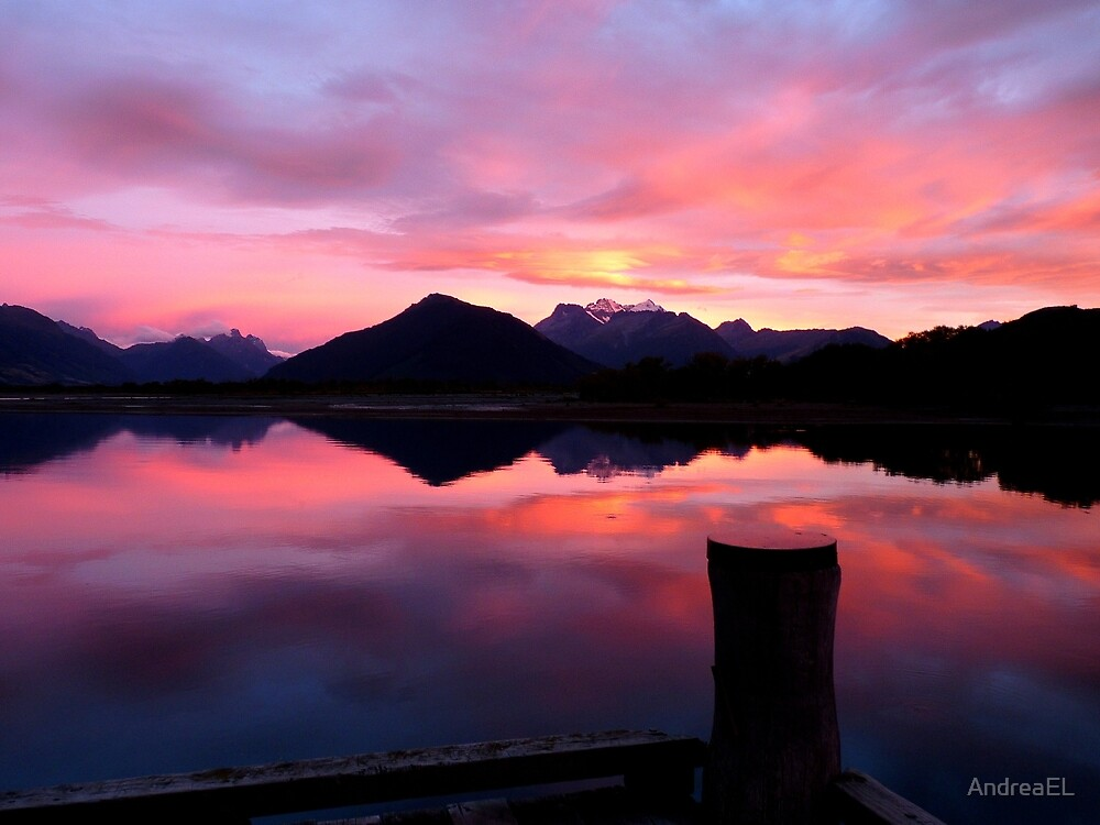 A Beautiful Day Dawns 2.. - Sunrise Glenorchy - NZ by AndreaEL