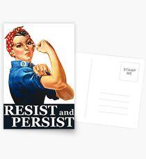 Resist and Persist Postcards