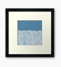 Half Knit Blue Framed Print