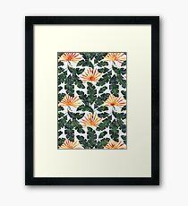 Summer Holidays | Tangerine Framed Print
