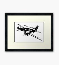 Cartoon Retro Airplane Framed Print