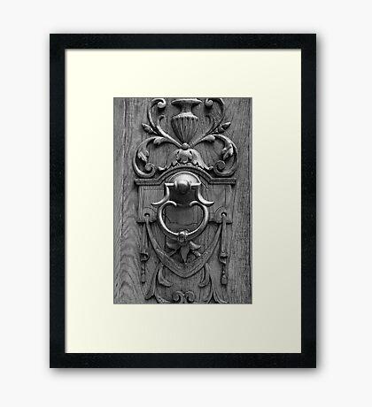 Details of a Door Framed Print