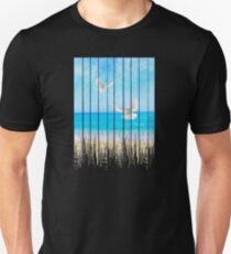 Grunge Dripping Peaceful Beach Unisex T-Shirt