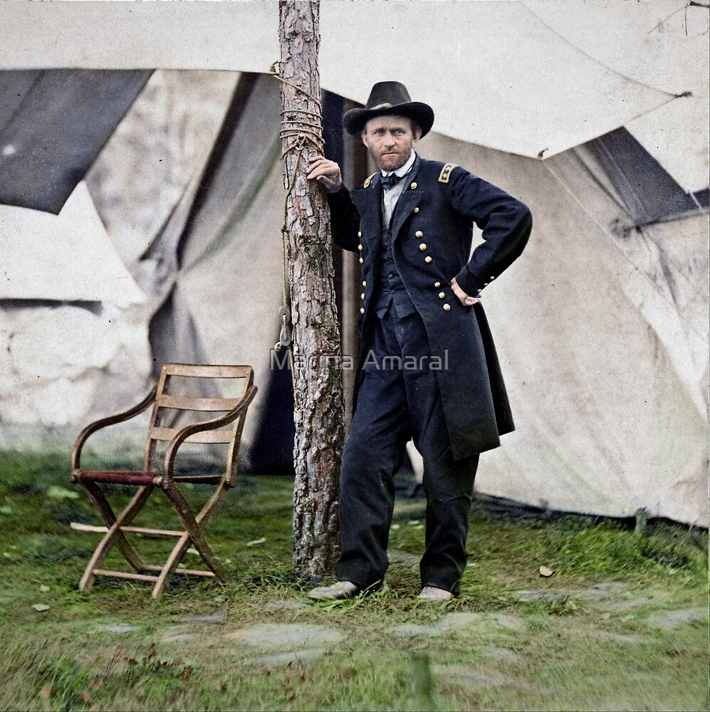 Ulysses S. Grant, Civil War general and 18th president of the US by Marina Amaral