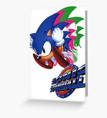 Sonic the Hedgehog Spinball  Greeting Card