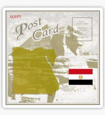 Egypt Curio Post Card Sticker