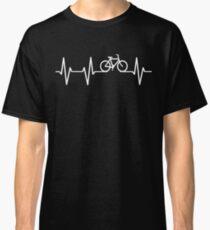 Camiseta clásica Pulso de corazón de bicicleta