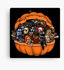 Horor Pumpkin Canvas Print