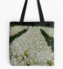 White Velvet Rows! - Tulip Plantation - NZ Tote Bag