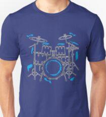 Cool Hand Drawn Drummer Set T-Shirt - Band Tee Unisex T-Shirt