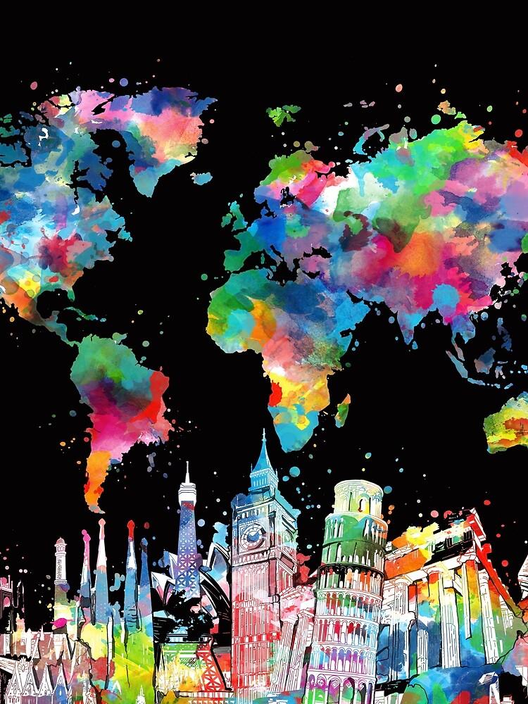 world map by BekimART