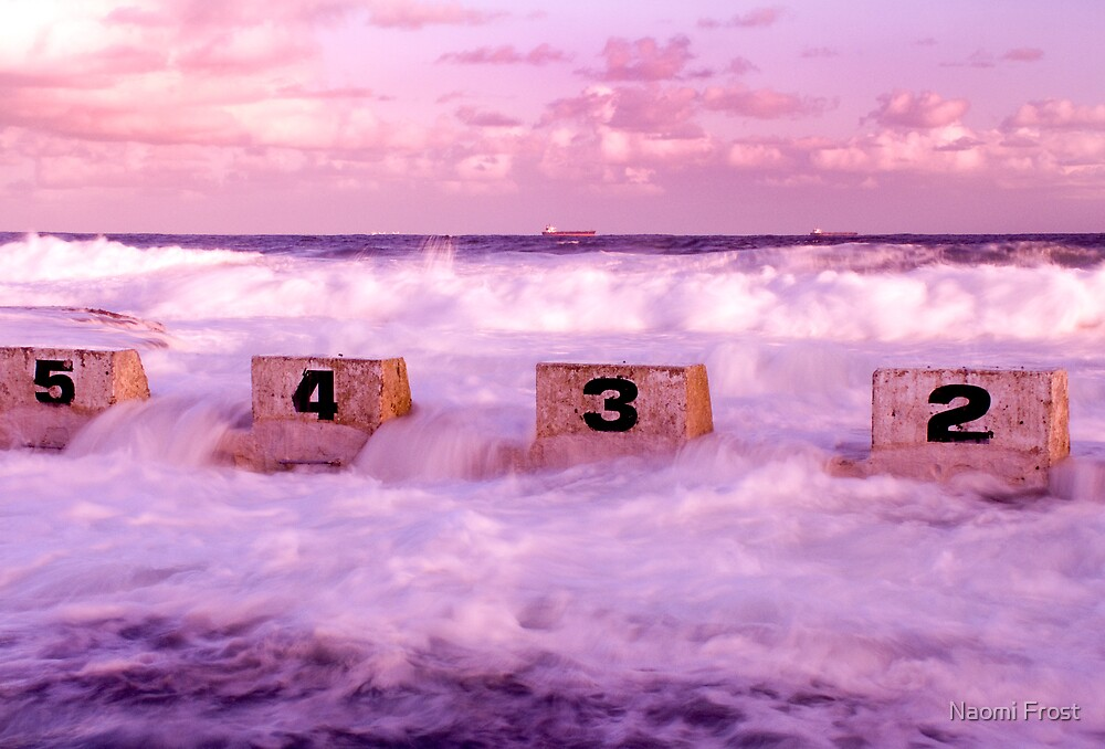 Merewether Baths Diving Blocks by Naomi Frost