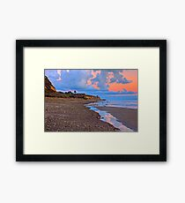 Tranquility. A section in Bacara Beach in Santa Barbara California Framed Print