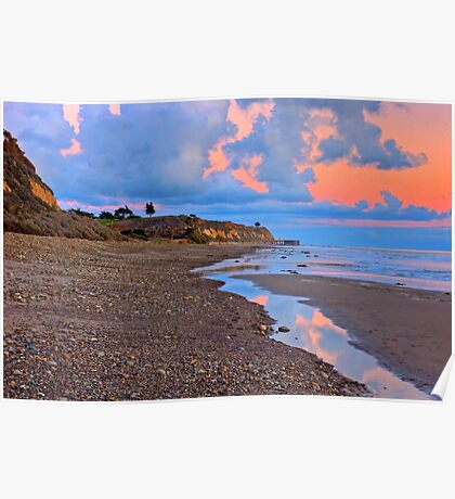 Tranquility. A section in Bacara Beach in Santa Barbara California Poster