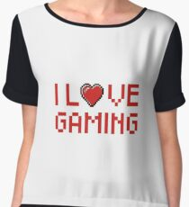 I Love Gaming - Girl Gamer Boy Gamer - PC Gamer, Console Gamer - Funny Gaming Gift Chiffon Top