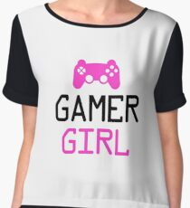 Gamer Girl - Gaming Girl, Female - PC Gamer, Console Gamer - Funny Gaming Gift Chiffon Top