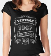 Vintage 1967 - 50th Birthday Gift Idea Women's Fitted Scoop T-Shirt