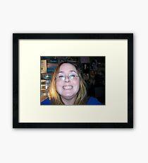 Goober The Happy Camper Framed Print