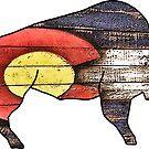 «Bandera del estado de Colorado Buffalo» de Statepallets