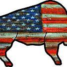 «Bandera de Estados Unidos Buffalo» de Statepallets