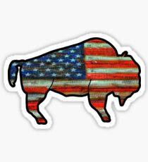 US Flag Buffalo Sticker