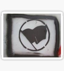 Anarchy Black Flag Stencil Sticker